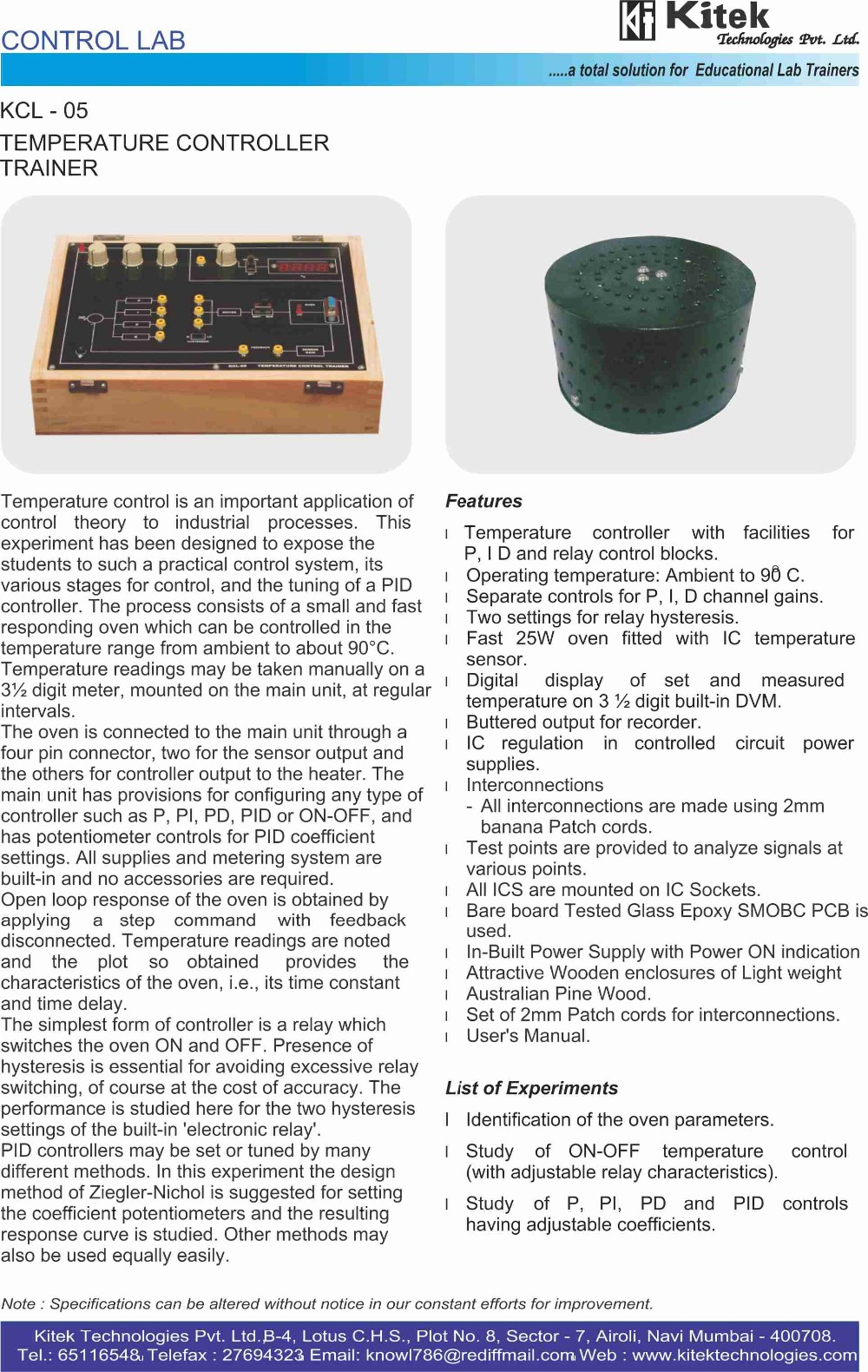 Dc Motor Speed Control Trainer Kit Lab View Controller Theory And Circuits