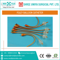 100% silicone coated standard foley double balloon catheters