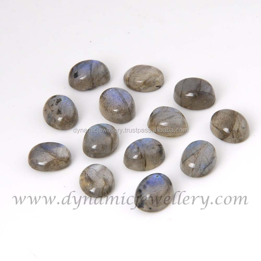 Labradorite loose gemstone 7x9 mm Oval Cabochon