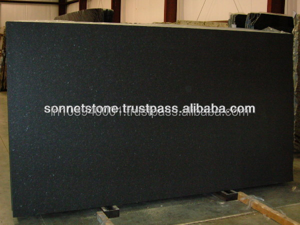 flammed black granite slabs