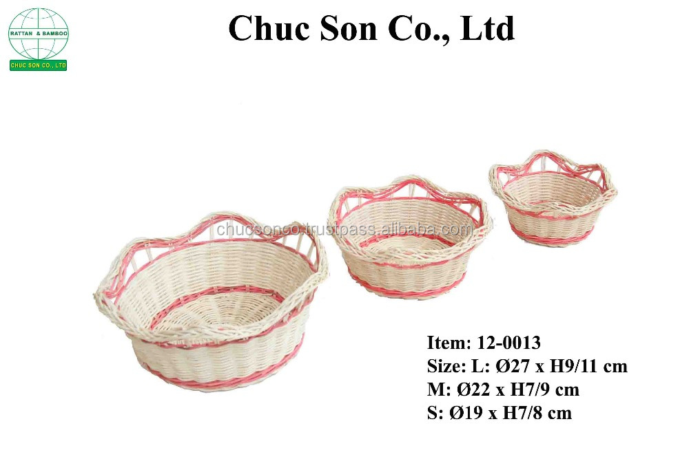 Factory direct sales all kinds of Wholesale Handmade Rattan Flower Basket
