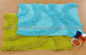 Anti-slip 100% cotton super soft bath mat in india