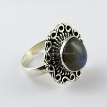 Artisan Oxidized Labradorite 925 Sterling Silver Ring, Silver Jewellery India, Wholesale Silver Jewellery