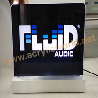 Manufacturer Aluminum Base Acrylic LED Edge Lit Signs, Acrylic LED Display Stand for Promotion