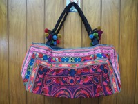Embroidered HMONG Hill Tribe Tote Handmade Bag
