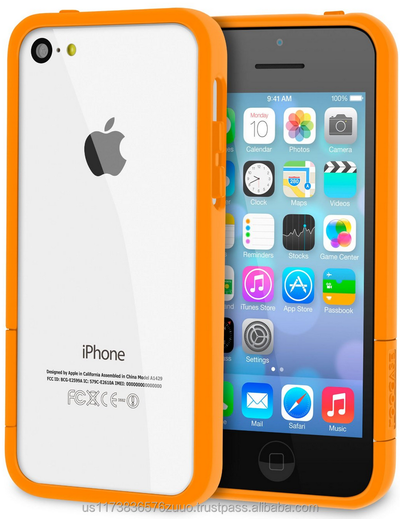 ProGuard Polycarbonate bumper case with high matte finish for iPhone 5C roocase (Matte Orange)