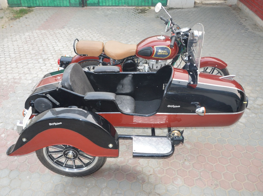 SARTAJ MODEL SIDECAR FOR ALL MOTORCYCLE AND SCOOTER harley davidson,royal enfield,lambretta ,vespa