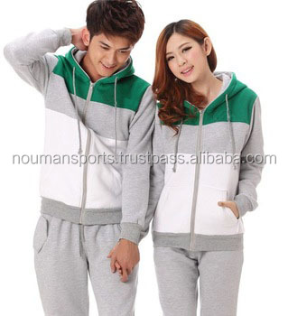 custom couple latest style sweat suits, grey hoodies for couple