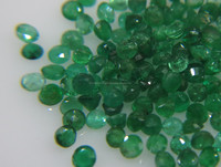 2.5-3mm Natural Loose Round Emerald Lot Brazil Origin Non-heated Non-treated