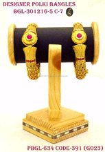 Gold Supplier in India Best Designer Gold Plated Bangles Imitations Jewellery in Wholesale