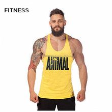 Custom 100% Polyester Men's Tank Tops Gym stringer y back tank top men