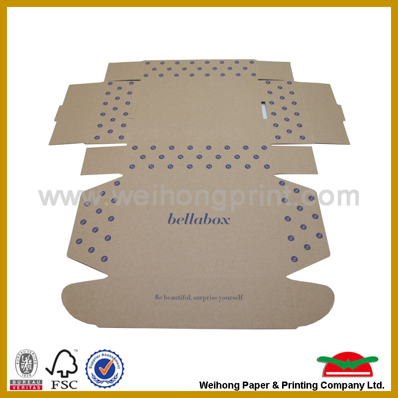 Brown kraft paper boxes for shipping package
