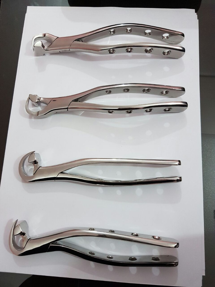 Dental Physics Extraction Forceps 4 Pcs. Orthodontic Dental Instrument