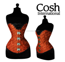 Corset Supplier : Overbust Candy Red Satin Clasped Corsets Supplier | COSH International