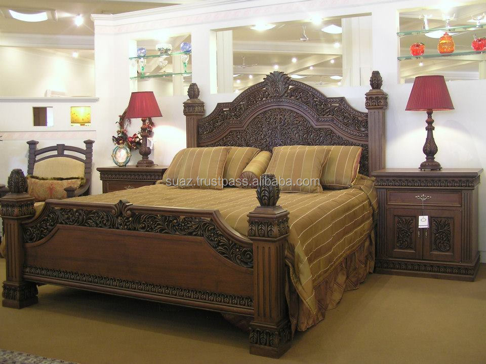Bedroom Sets In Pakistan chinioti wooden beds,luxury beds,pakistan traditional beds