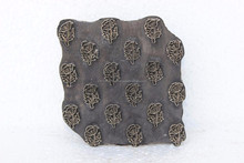 Antique Textile Print Block Stamp