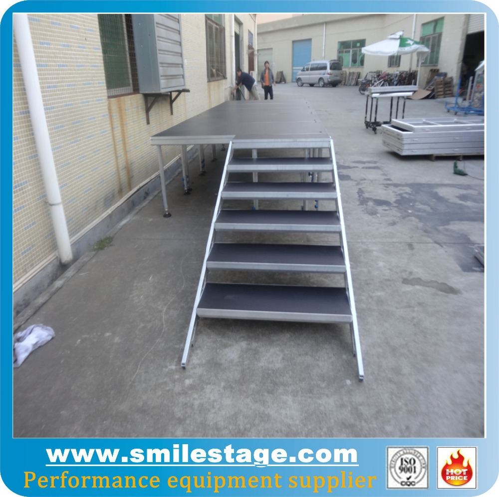 Aluminum Stage Platform Modern Crystal Wedding Stages