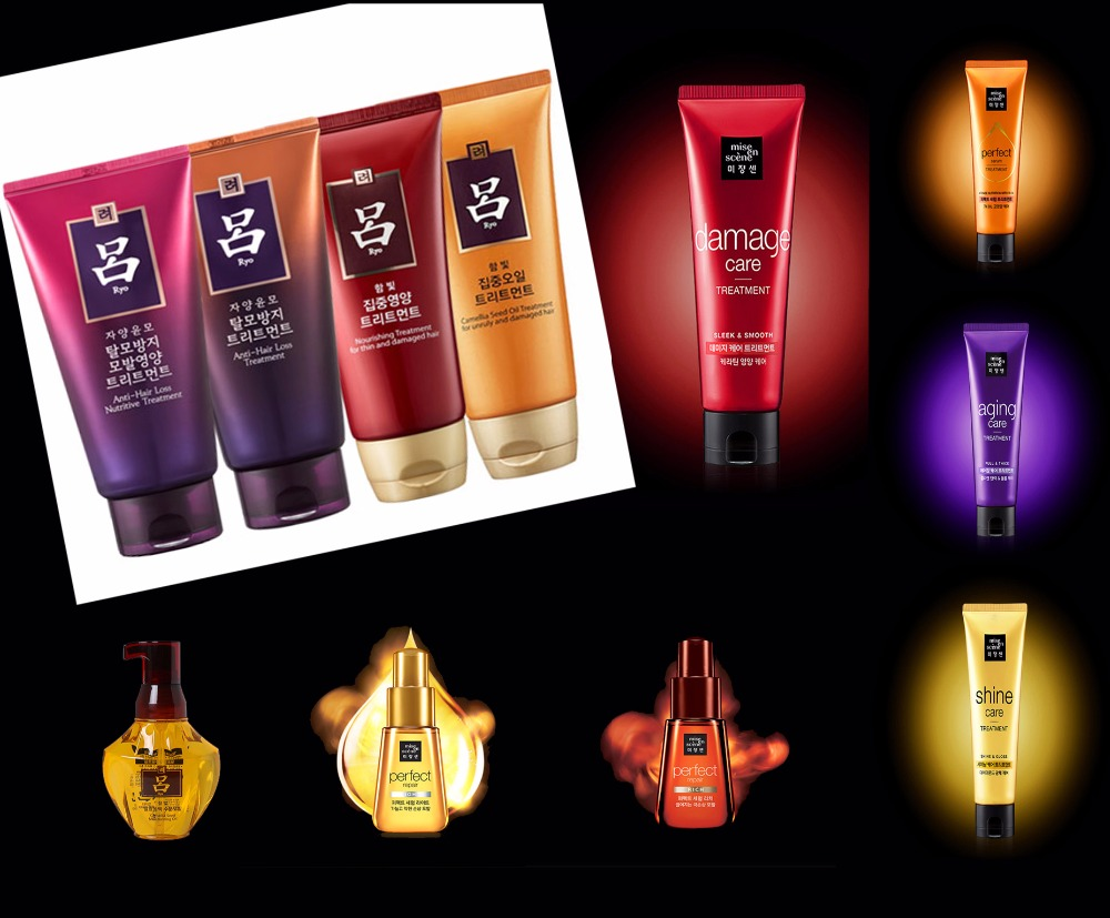 Ryo&Mise En Scene Korea OEM best essence hair brand Shampoo Treatment hair Essence oil cream