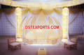 Latest Asian Wedding Crystal Love Seater/Golden Wedding Furniture