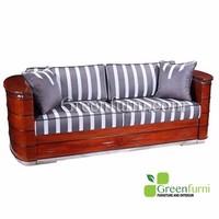 Living room Artdeco wooden Sofa Three Seater furniture