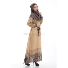 Kaftan Abaya Jilbab Islamic Muslim Women Vintage Cocktail Maxi Dress+Belt M14