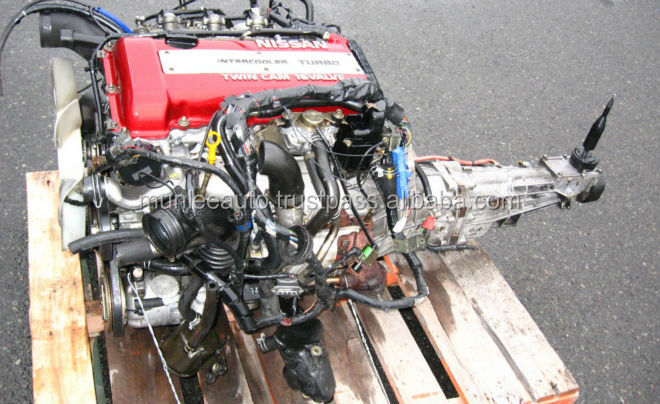 JDM SR20DET SR20 TURBO S13 REDTOP USED ENGINE WITH MANUAL GEAR BOX