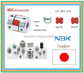 Flexible NBK Coupling Couplicon MJC-C clamping type ( easy to assemble )