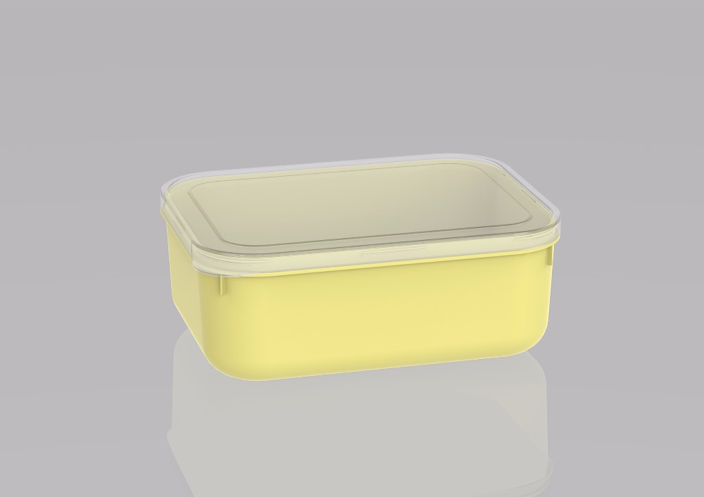 100% new pp material food grade safety plastic food storage container L20403 SMALL YELLOW
