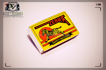 Easy Strike Zebra Match Box with fully tinted Side Friction for sale