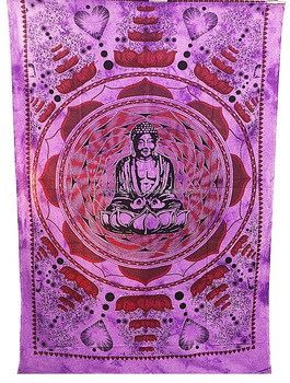 Purple Budha Wall Hanging Tapestry Dorm Decor Bohemian Wall Tapestry TABLE COVER Bedding Beach Blanket Bedsheet Bedcover