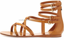 Leather gladiator sandals for ladies