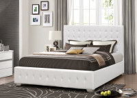 Hot sales Tufted Upholstery Bed, Faux Leather bed, bedroom furniture, Double, Queen, King size bed