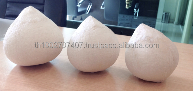 Fresh Polished Young Thai Coconut (Ball Shape)