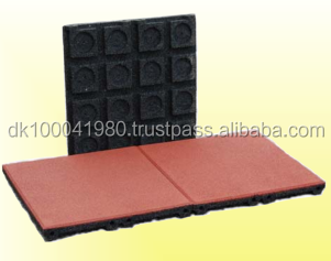 ErgoPlay outdoor safety rubber blocks/EN1177 certificated safety rubber floor tiles/roof deck choise rubber floor