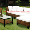 Corner Water Hyacinth Living Sofa Set
