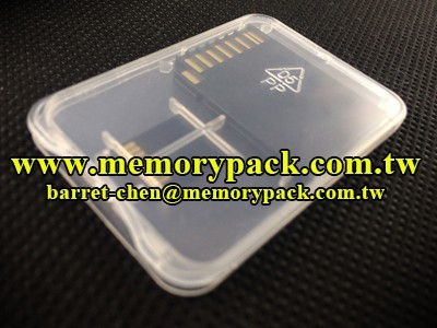 Memory card mini cases jewel boxes clamahell plastic box packaging memorypack SA1