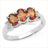 1.79 Carat Genuine Orange sapphire ring