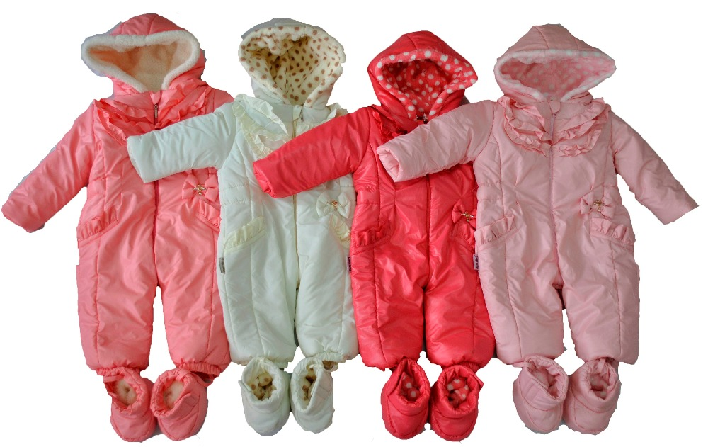 Outerwear for children: demi and winter jackets; coats; faux fur coats; pants and fleece based trousers; warm overalls