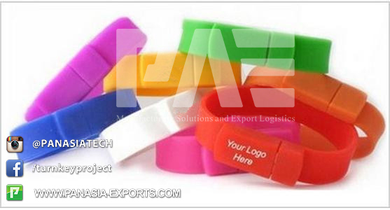 USB Corloful Silicon Wristband, Bracelet with Customized Logo