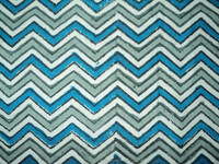 India made cotton wholesalr zig-zag print pattern hand block printing on pure cotton fabric
