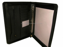 High End Customized Real Leather Ring Binder