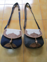 Leather/Hemp/Felt Passport Bag