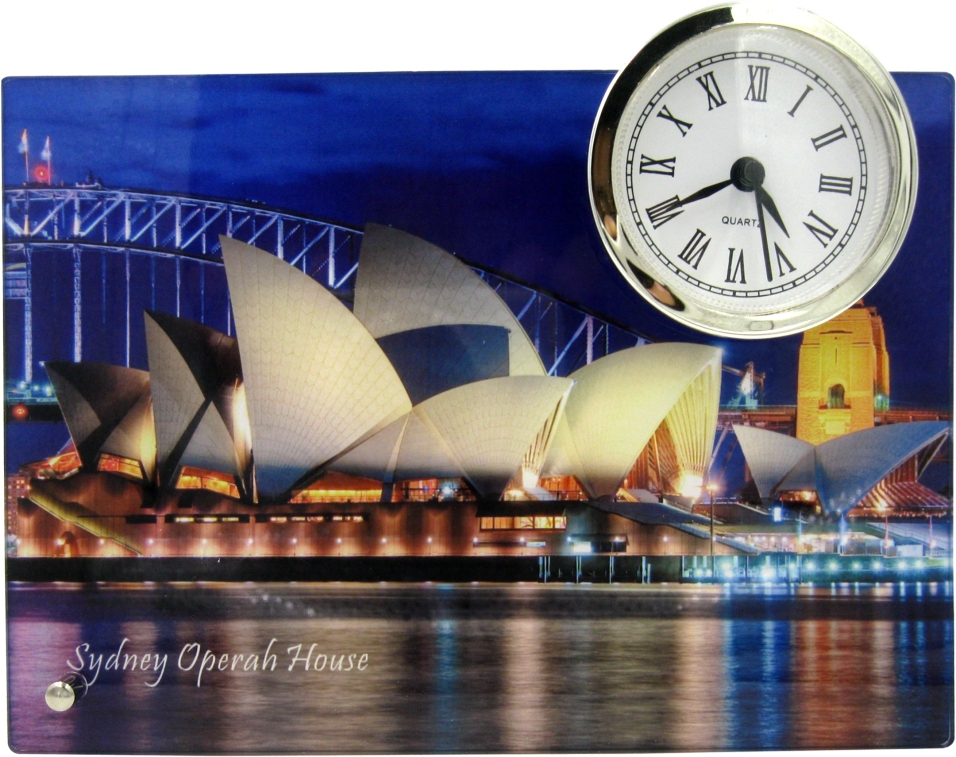 Personalised Gift Acrylic Gloss Photo Frame with Clock