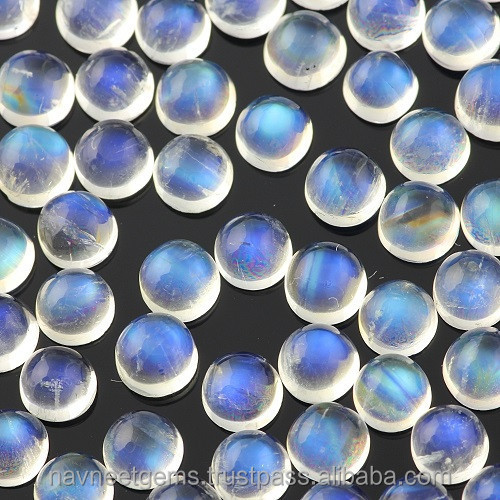 Loose Blue moonstone cabochons Supplier