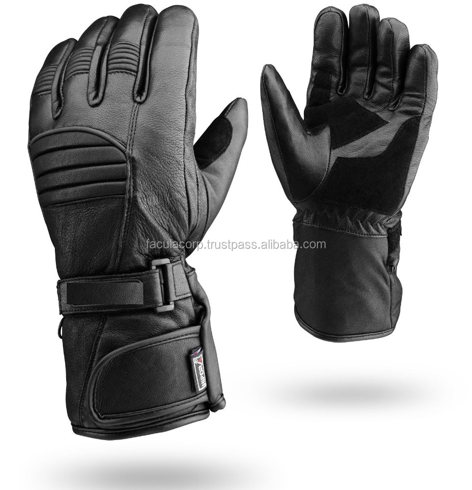 Winter Leather Motorbike Gloves Reflective Motorcycle Waterproof Padded FC-10107