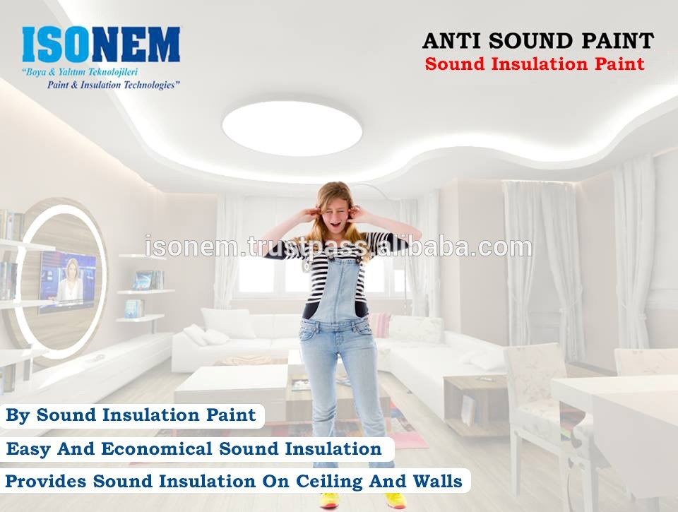 ISONEM ANTISOUND PAINT SOUND INSULATION AND SOUND PROOF PAINT