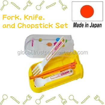 Japan cutlery set Fork, Knife, and Chopstick Set for Kids Wholesale