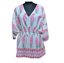 Paisley printed kaftan tunics Ladies fancy tops and blouse