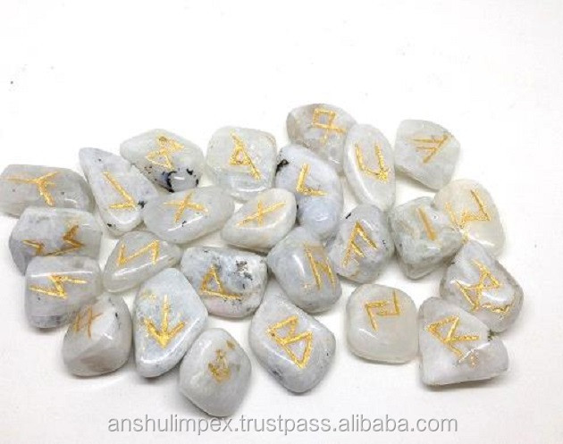 Wholesale Rainbow Moonstone rune sets, runes stones, wholesale runes.