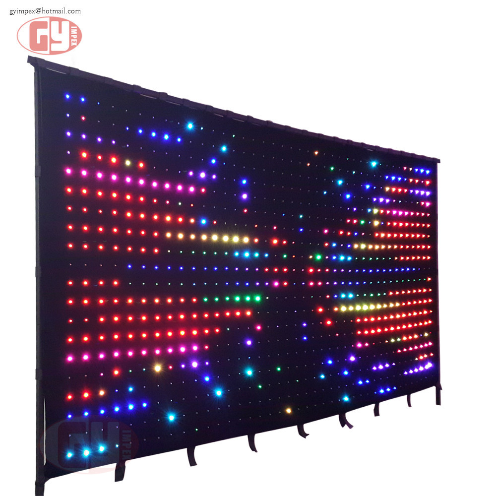 led curtains for stage backdrops / flexible led curtain